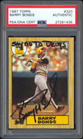 "1987 Topps #320 Barry Bonds RC PSA/DNA Autographed ""Say No To Drugs"" Inscription"