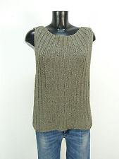 Annette Görtz jersey de punto talla M/gris & con lino-lujo pur (l 8575)