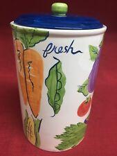 Decorative Vegetable Glazed Ceramic Flour Sugar Coffee Kitchen Cookie Canister