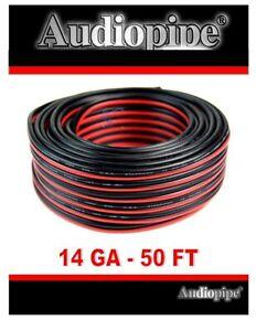 14 Gauge 50' Feet Red Black Stranded 2 Conductor Speaker Wire Car Home Audio