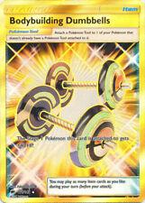 Pokemon SM Burning Shadows Bodybuilding Dumbbells #161 Secret Rare Holofoil NM