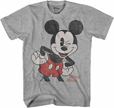 Oversized Image Mickey Mouse Adult Tee Graphic T-Shirt for Men Tshirt