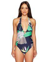 Trina Turk Women's V-Neck Halter One Piece Swimsuit Sz. 4 (Multicolor) 149242