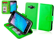 Green Wallet Leather Case Cover For Samsung Galaxy J1 J100Y