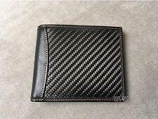 Real Carbon Fiber Leather Wallet ORANGE bifold FOR men new bi-fold ID photo