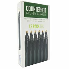 (12 Pens) Money Marker -- Counterfeit Fake Bill Detector Counterfit Dollar Pen
