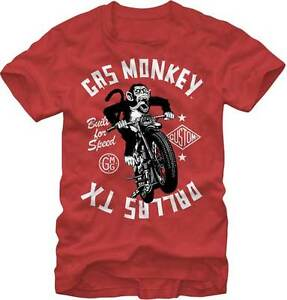 GAS MONKEY GARAGE MONKEY MOTO TV SHOW MOTORCYCLE DALLAS TEXAS T TEE SHIRT S-2XL