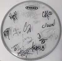 "SLIPKNOT & METALLICA 14"" REAL hand SIGNED Concert Used Drumhead 2004 All 13 COA"
