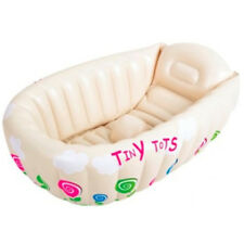 TINY TOTS INFLATABLE BABY HOT BATH HEAT SENSOR WASHING TRAVEL TUB
