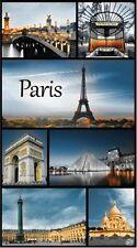 Serviette Drap de plage Paris carte postale beach towel coton 95 x 175 cm