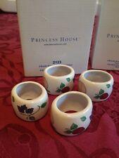 PRINCESS HOUSE ORCHARD MEDLEY   NAPKIN RINGS  -  SET OF 4  -   NEW w/ BOX