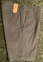Levi's Men's XX Chino Standard Taper Fit Stretch Shorts Size 34 Dark Slate New