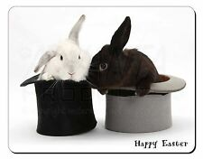 Top Hat Rabbits 'Happy Easter' Computer Mouse Mat Christmas Gift Idea, AR-7EAM
