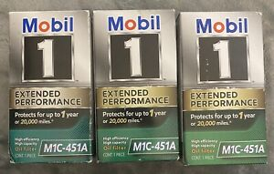 Engine Oil Filter Mobil 1 M1C-451A Lot of 3 Filters