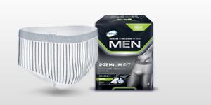 TENA Men Level 4 Premium Fit Protective Underwear - Large -  Pack of 8 Pants