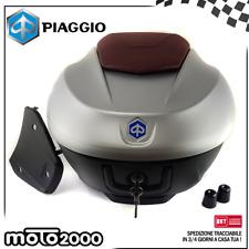 BAULETTO POSTERIORE 36 LT ORIGINALE PIAGGIO BEVERLY 300 350 GRIGIO 760 2010 2017