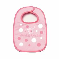 Official Party Product Amscan 1st Birthday Bib Girl Pink Present Gift Fun New
