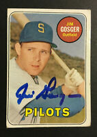 Jim Gosger Pilots signed 1969 Topps baseball card #482 Auto Autograph