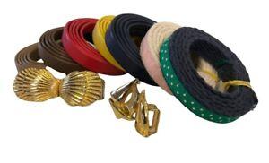 Dotty Smith Belt Buckles Set Of 2 Seashells Sailboats Signed 7 Belts Gold Tone