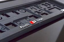 ! 3D! 2x Audi S Line Acabado Negro + Chrome Número De Matrícula titulares de edición limitada!