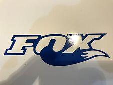 2x LARGE Dark Blue Fox Shox Tail Vinyl Decal Sticker Forks / Bike / Frame Set