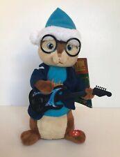 NWT Alvin And The Chipmunks Simon Singing Figure w/ Guitar 2013 Christmas Doll