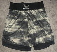 Nwt Reebok Combat Boxing Training Shorts Men's Size Xl Black Camo Mesh Wide Band