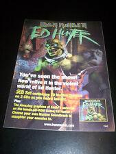 IRON MAIDEN - ED HUNTER promo sticker EMI cm. 15x21