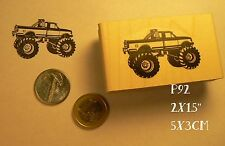 P92 Monster truck, big wheel rubber stamp