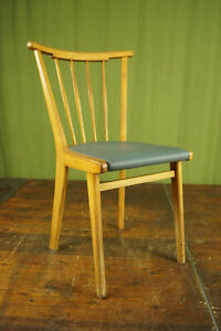 50er Vintage Dining Room Chair Kitchen Rockabilly Sprossenstuhl Retro Blue 2