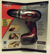 "New Skil 3/8"" Variable Speed Cordless Drill / Driver 18V Lithium Battery Nib"