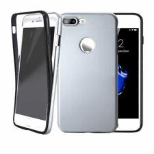 Handy hülle 360° Full Cover für iPhone Samsung Case Schutz Tasche Displayschutz Samsung Samsung Galaxy J5 2017 J530 Silber