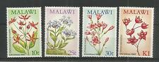 MALAWI 1987 CHRISTMAS WILD FLOWERS SG,776-779 U/MM NH LOT 3056A