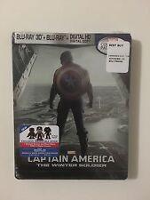 CAPTAIN AMERICA WINTER SOLDIER 3D Blu-Ray SteelBook Best Buy Exclusive OOP Rare!