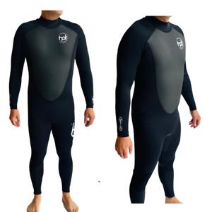 Hot Surf 69 Mens 3/2 mm Full Length Summer Wetsuit - Black Black