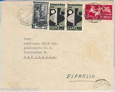 57029 - ITALIA REPUBBLICA - STORIA POSTALE :  LAVORO + ESPRESSO su BUSTA 1951