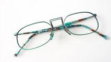 Glasses Metal Frame Green Colourful Plastikbügel Ladies Men's Fancy Size S