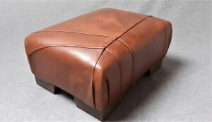 Footstool / Small Stool /  real leather Vintage Brown    (code 6)