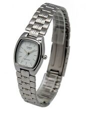 LTP-1169D-7A Casio White tone Stainless Steel Watch Ladies Date