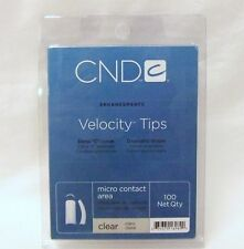 CND Creative Nail Design Tips VELOCITY Clear 100/tray