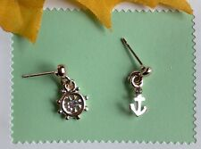 Fashion Anchor Sailing helmsman! Rose Gold GP Hollow-out Stud Earring