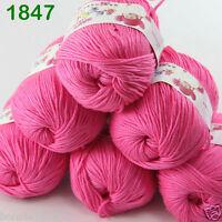 Sale 6 ballsx 50gr DK Baby Soft Cashmere Silk Wool hand knitting Crochet Yarn 47