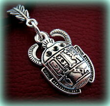 Egyptian Pendant Necklace Jewelry Art Deco Antique Vintage look Scarab Beetle