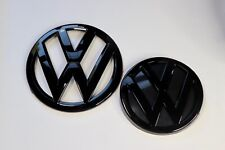 Golf MK7 black glossy front and rear badges