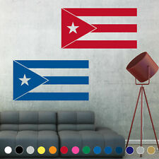 Puerto Rico Flag Decal Sticker Wall Rican Art Living Room House Decor Window V1