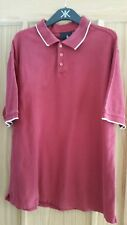 BHS  DARK RED COTTON  BUTTON COLLARED POLO SHIRT T-SHIRT TOP