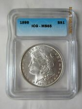 1898 Morgan Silver Dollar - High Grade ICG MS 65