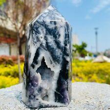 Natural Sphalerite Crystal Obelisk Crystal cave Mine standard With fluorite 567G