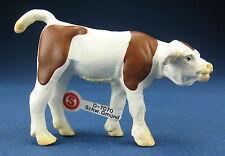 SCHLEICH 13005 - Kalb braun/weiß - brown/white Calf + Fähnchen - Made in China 7