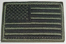 """CONDOR #230 USA American Flag Patch 2""""x3"""" Hook & Loop Backing Choice of Colors"""